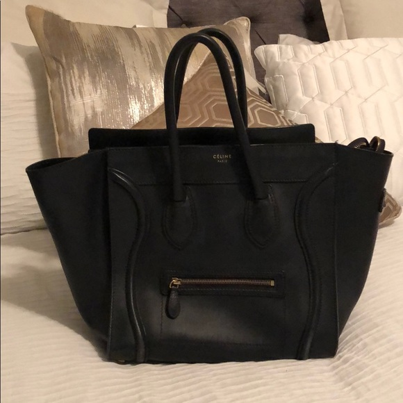 Celine Handbags - Gently Used Large Navy Celine Luggage Handbag 7618c1fc46ae8